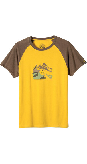 Prana M's Blazing Trails Tee Shirt Marigold